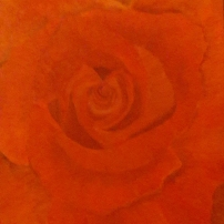 red rose original oil painting
