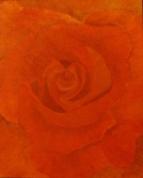 Love is in the air red rose oil painting by Navdeep Kular
