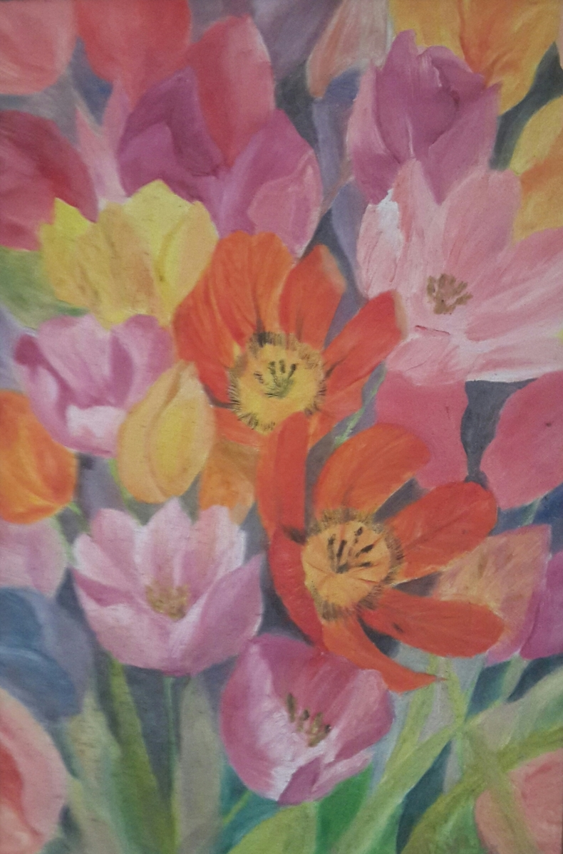 tulips oi painting by Navdeep Kular