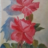 Roses Study red roses pair of rose oil painting by Navdeep Kular