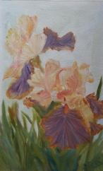 Irises oil painting by Navdeep Kular