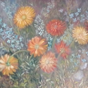 Daisies Study oil painting by Navdeep Kular