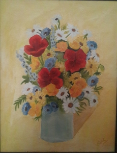 Poppies in a Vase oil painting by Navdeep Kular