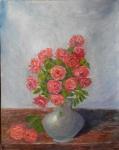 Roses in a Vase original oil painting by Navdeep Kular