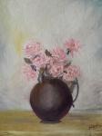 Roses in a Vase (12H X 9W) original oil painting by Navdeep Kular