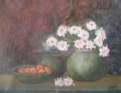 White Roses in a Vase (11H X 14W)