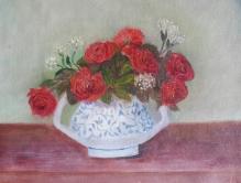 Red Roses in a Vase oil painting by Navdeep Kular
