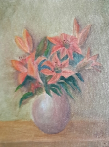 Lilies in a Vase oil painting by Navdeep Kular