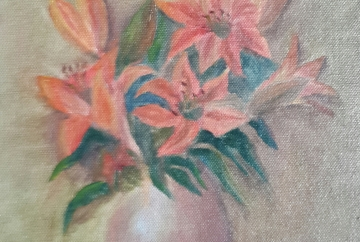 Lilies in a Vase oil painting by Navdeep Kular