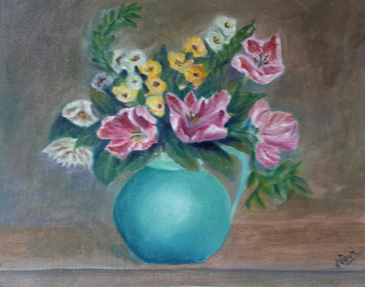 tulips original oil painting by Navdeep Kular