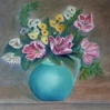 tulips original oil painting by Navdeep Kular