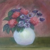 Dahlias original oil painting by Navdeep Kular