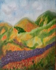 Wildflowers oil painting by Navdeep Kular