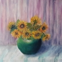 original sunflowers oil painting by Navdeep Kular