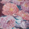 floral painting peonies oil painting by Navdeep Kular