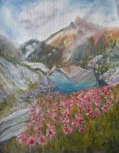 landscape oil painting by Navdeep Kular