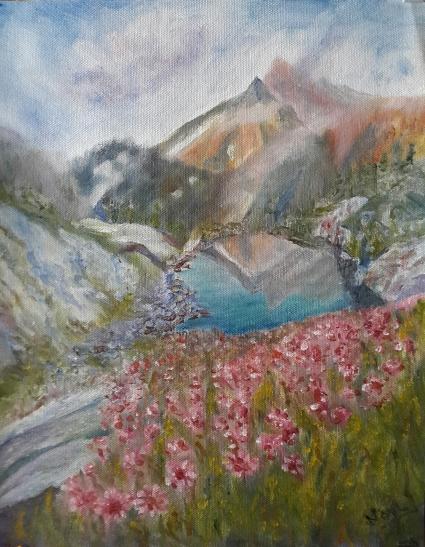 landscape oil painting by Navdeep Kular