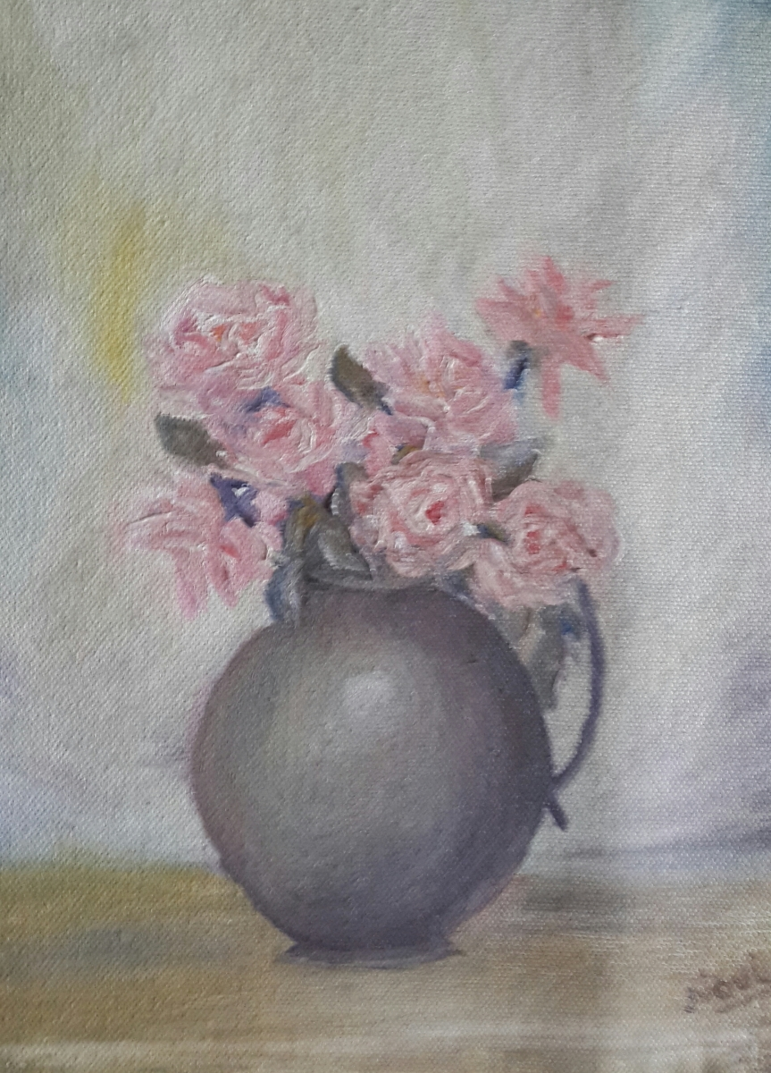 roses original oil painting by Navdeep Kular