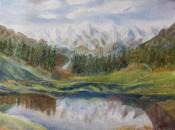 Himalayan landscape oil painting by Navdeep Kular