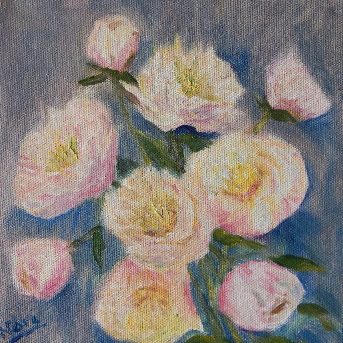 Floral painting by Navdeep Kular