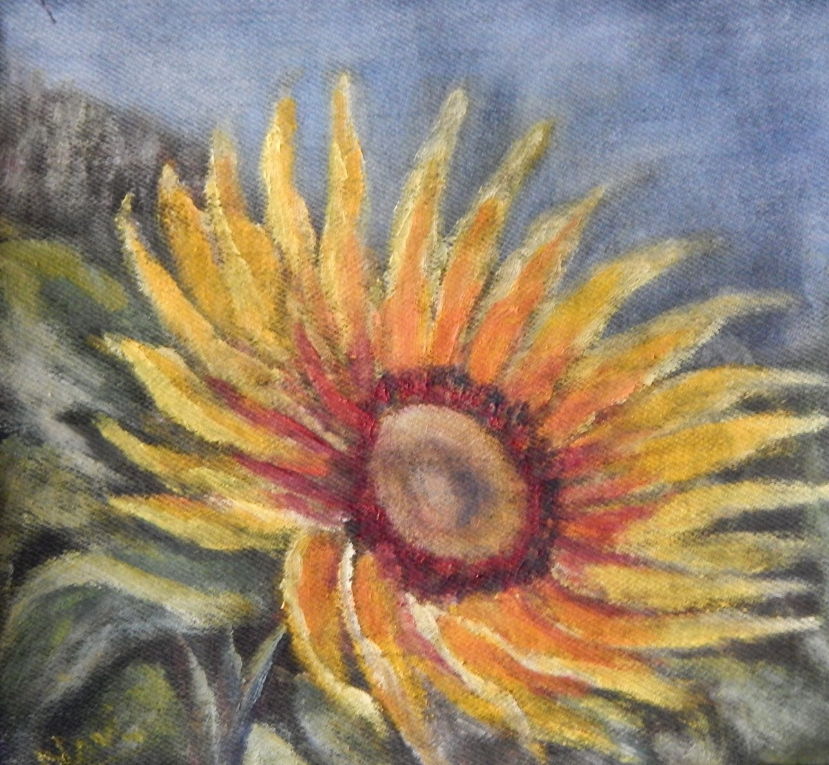 sunflower oil painting by Navdeep Kular