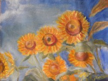 sunflower oil painting y Navdeep Kular