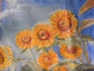 sunflower oil painting y Navdeep Kular
